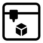 3D Printer Icon - Creative Lab