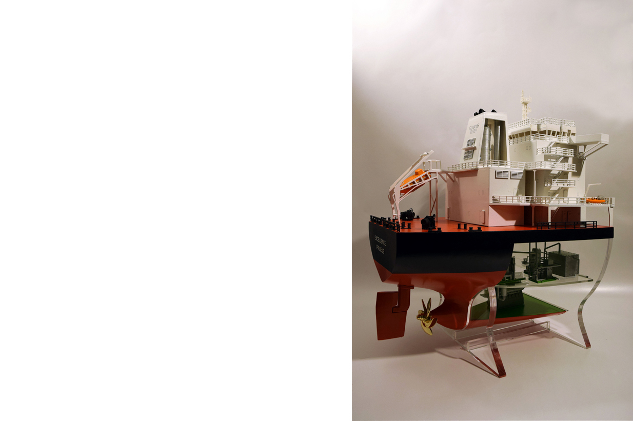 bulk ship scale model glafkos