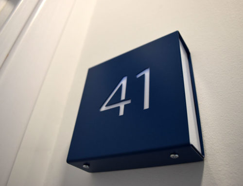 Hotel room numbering cases