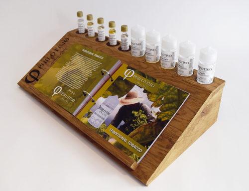 Promotion stand για την εταιρία Philotimo Liquids