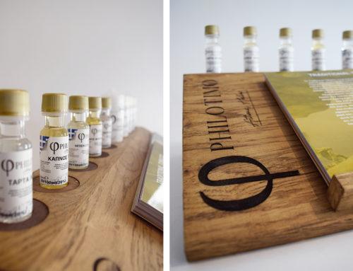 Διαφημιστικό stand για την εταιρεία Philotimo Liquids
